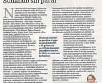 """La Razón """"Sudando sin parar"""" José Antonio Vera"""