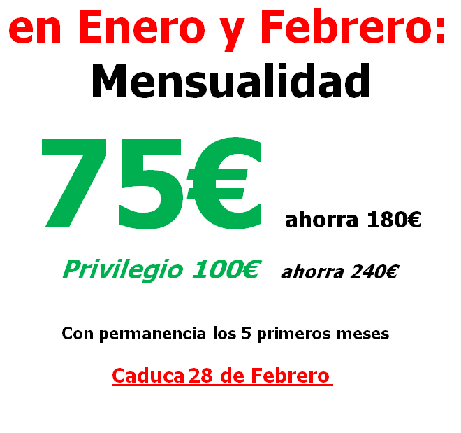 oferta enero febrero